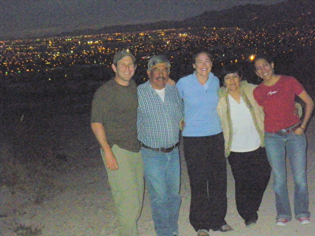 Our CS host and her family in Chihuahua
