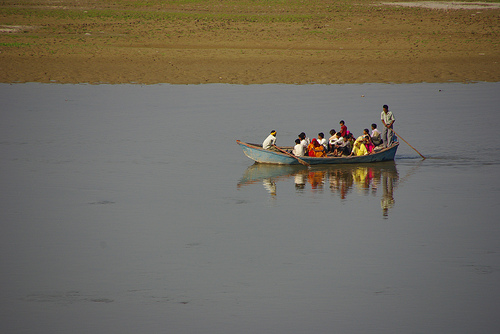 Indian Ferry Boat in Agra