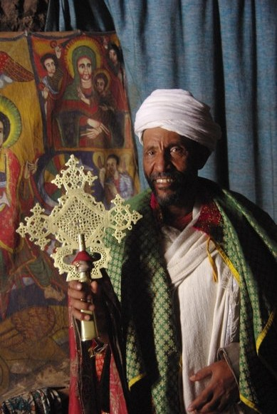 Ethiopian Priest at Lalibela