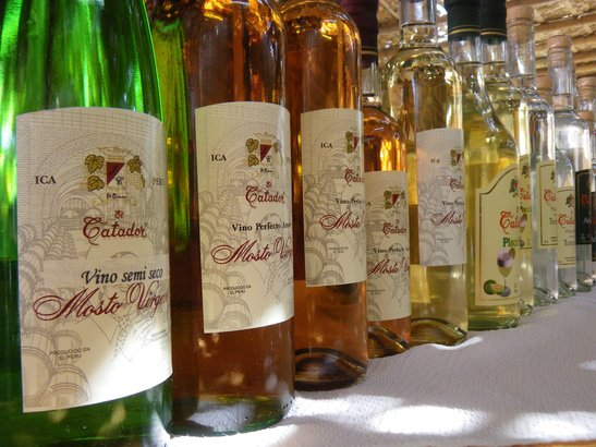 Bottles of Pisco from Peru