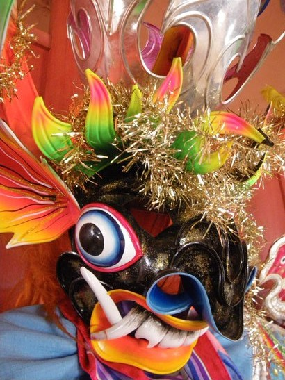 Traditional Peruvian Dance Mask