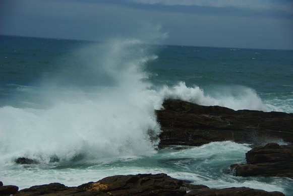 Crashing waves at Tsitsikamma