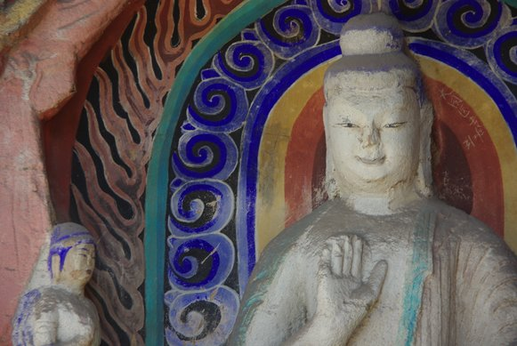 Buddha Statue from the Yungang Grottoes in Datong, China
