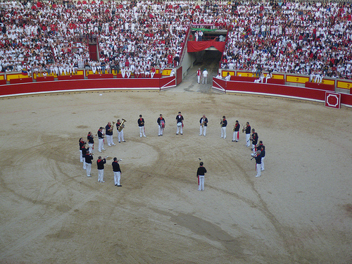 Inside the Bull Ring, Pamplona