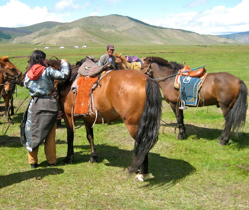 Mongolia Travel - Prepping the Mongolian ponies