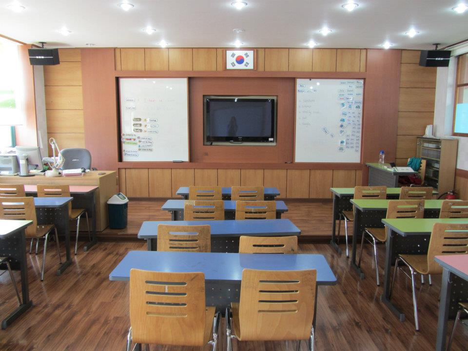Korean classroom Teaching English in Korea: Expectations vs. Reality