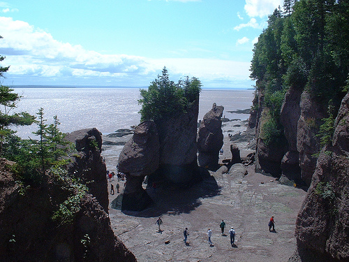Hiking in the Bay of Fundy in Canada