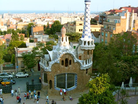 Gaudi Park Summertime in Spain