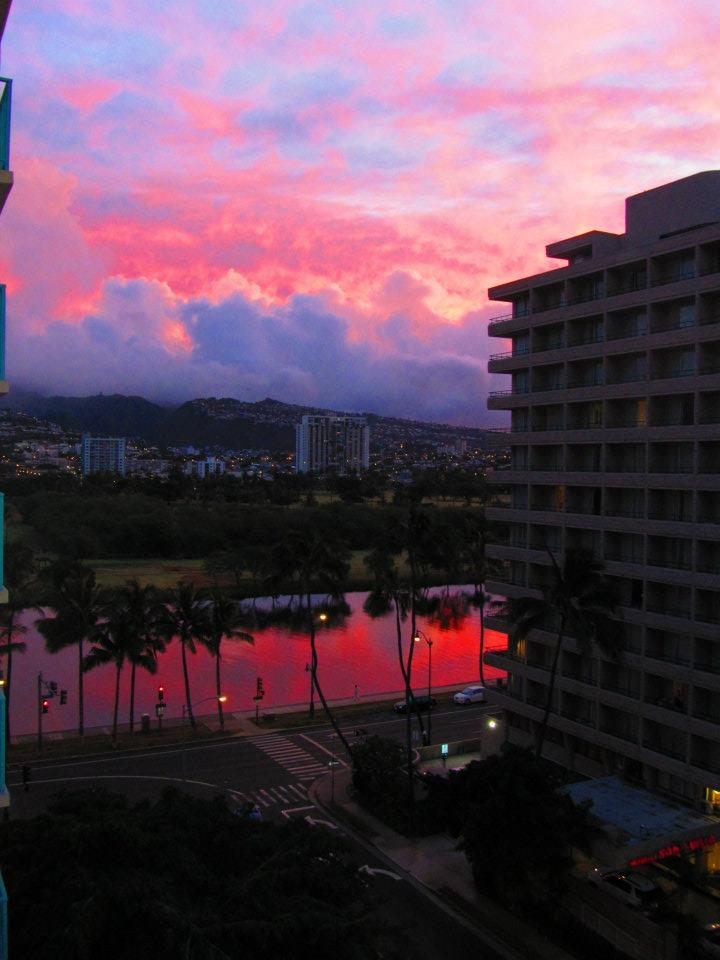 Sunrise in Honolulu, Hawaii