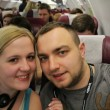 picture of us in the plane to Asia