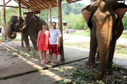 Karolina and Patryk on the best day of their travels so far on Koh Chang Island.
