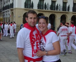 Yup, San Fermin, or the running of the bulls. This was the last time we were in Spain. Incidentally we also went through Barcelona that weekend.